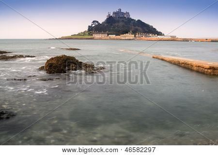 St Michael's Mount Bay Marazion early morning landscape
