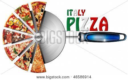 Italy Pizza On Cutter For Pizza
