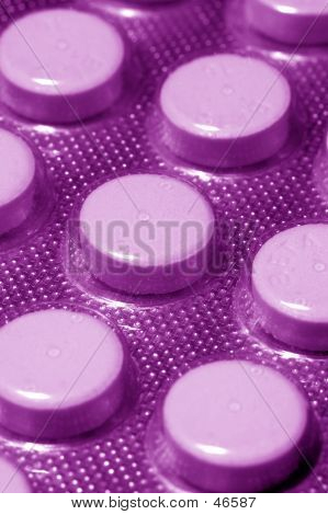 A Blister Pack Of Pills, Purple
