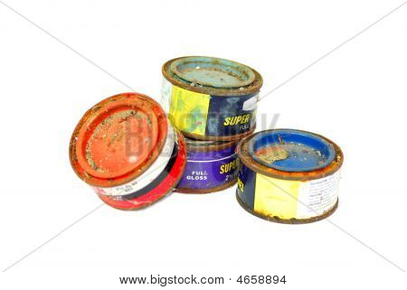 Old Paint Cans With Rust