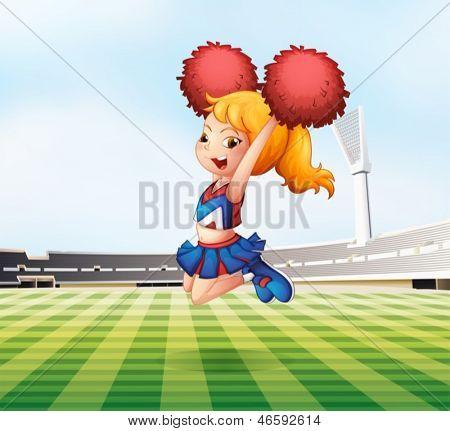Beispiel für ein Cheerleader Jubel auf dem Feld