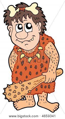 Cartoon Prehistoric Man