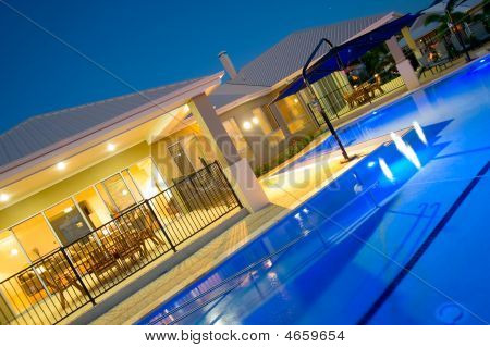Swimming Pool At Luxury Home