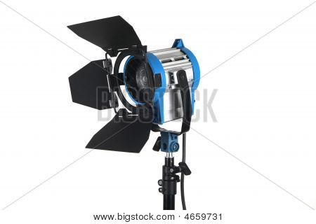 Studio Light On White Background Blue And Silver