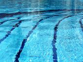 swimming pool with lane lines poster
