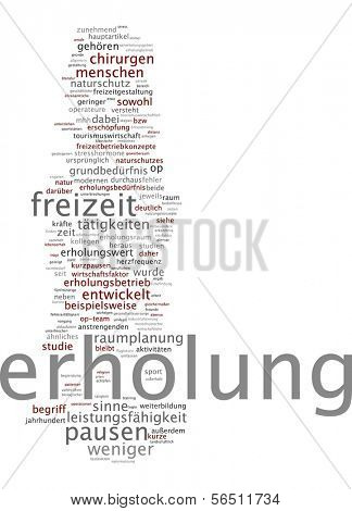 Word cloud -  free time