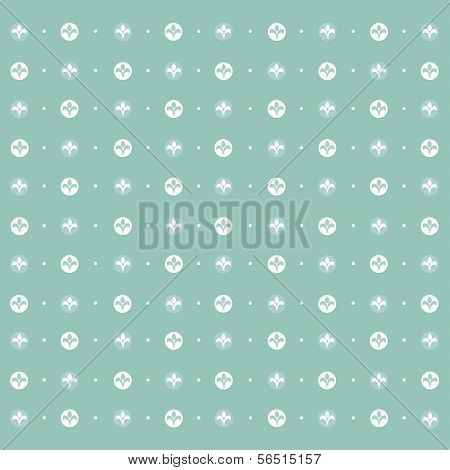 Seamless Pattern: Symmetrically Placed Lily