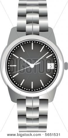 Steel watch