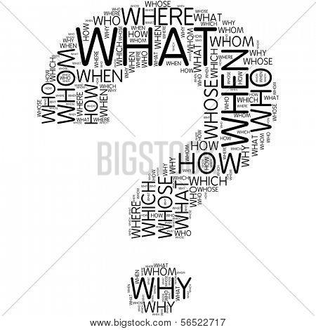 question mark | Word Art