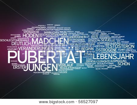 Word cloud -  puberty