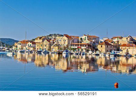 Colorful town of Tribunj waterfront Dalmatia Croatia poster