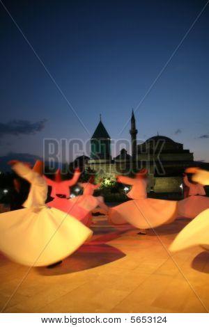 Mevlana Museum silhouette