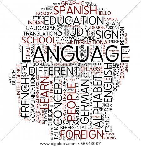 Info-text graphic - language