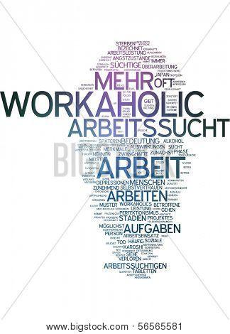 Word cloud - workaholic