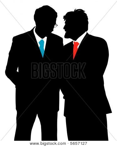 Two Businessmen Talking