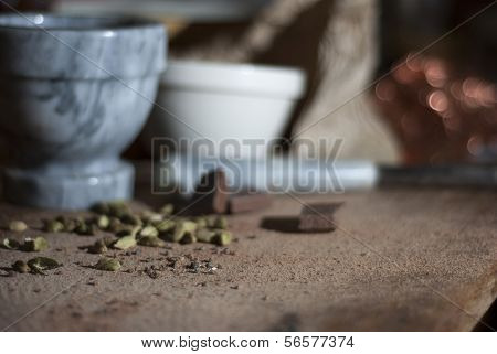Cardamom Being Prepared For Chocolat Making