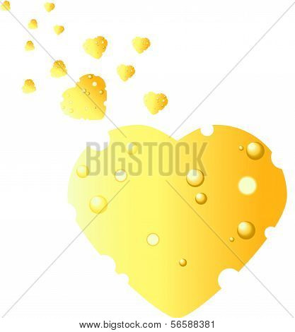 Cheese In The Shape Of Heart