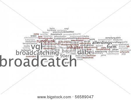 Word cloud - broadcatch