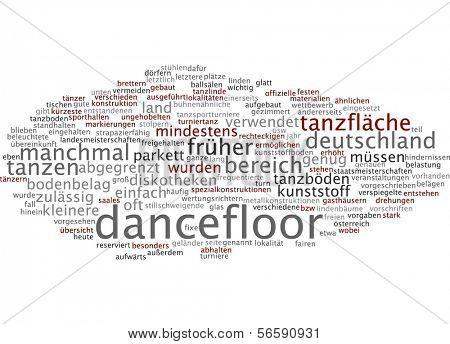 Word cloud - dancefloor