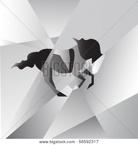 Abstraction horse