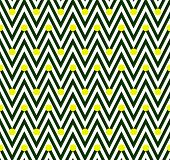 Green and White Horizontal Chevron Striped with Polka Dots Background that is seamless and repeats poster