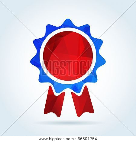 Award rosette badge with triangle pattern