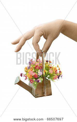 Woman Hand Holding Flower Bouquet