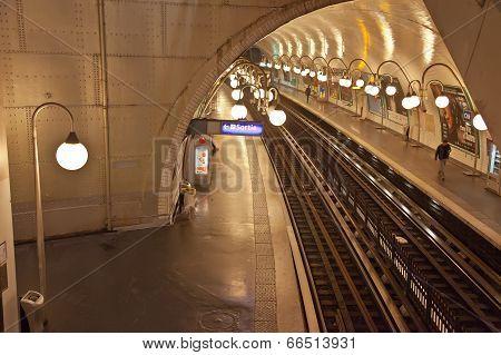 Paris. Cite Metro Station