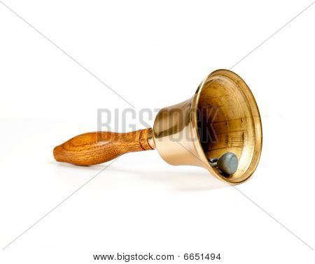 Brass Handbell With Wooden Handle