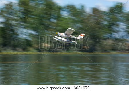 Radio Controlled Hydroplane Taking Off