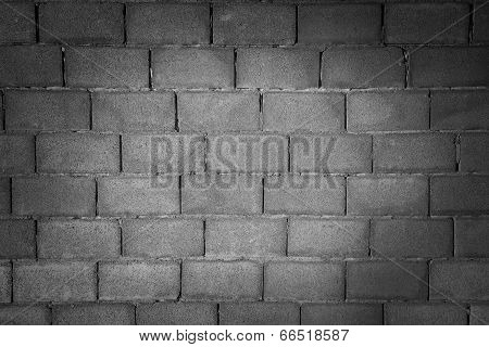 Gray cinder block wall background