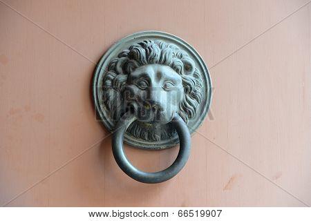 handle, metal, bronze, decoration, door, ornate, lion, animals, details, household, objects/equipmen
