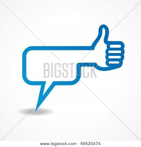 message bubble make a like symbol stock vector