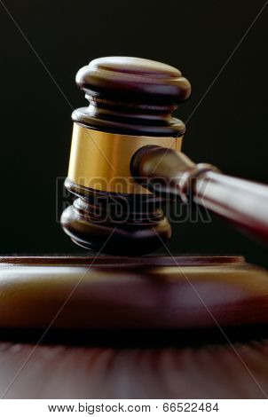Wooden Gavel For A Judge Or Auctioneer