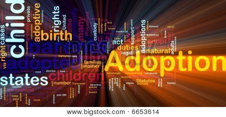Adoption Word Cloud Glowing