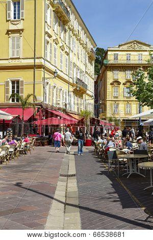 Cours Saleya Buildings And Restaurants