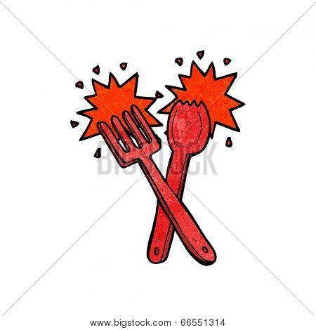 cartoon cutlery