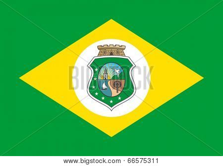 State flag of Ceara in Brazil.