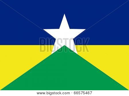 State flag of the state of Rondonia in Brazil.