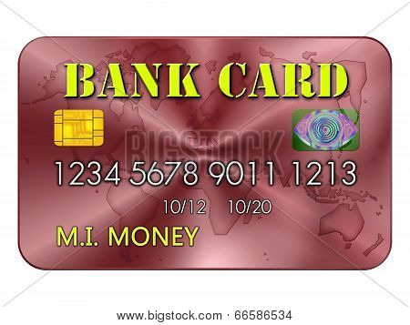 Bank Card In Yellow And Red
