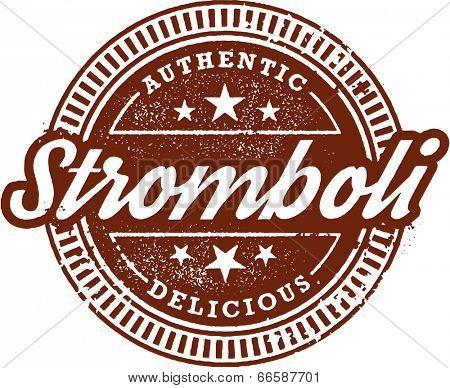 Authentic Italian Stromboli Restaurant Menu Stamp