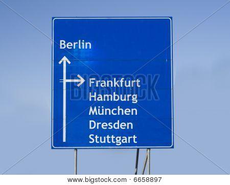 Roadsign Germany