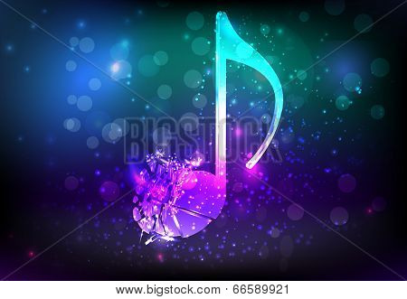 Shatterred Musical Note
