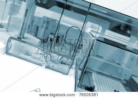 Laboratory Facility Under Protective Glass.