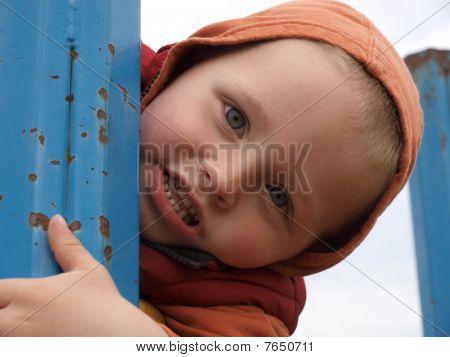 little boy on the playground