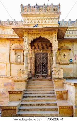 Ancient Shiva Temple Besaide Gadisar Lake