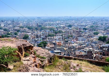Jodhpur, The Blue City As Seen From Jaswant Thada