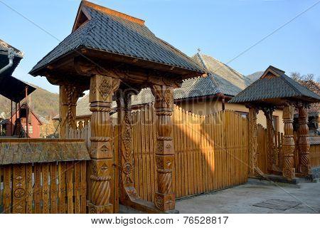 Carved Wood Gate