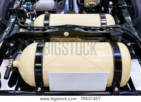 Modern gas tank for vehicles in Thailand. poster