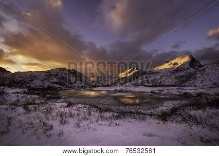 Sunset Over Lofoten, Norway